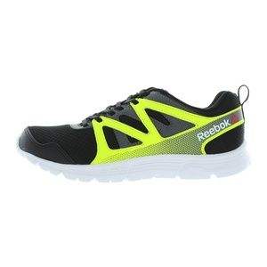 Reebok Black Yellow Supreme 2.0 Kids Running Shoes